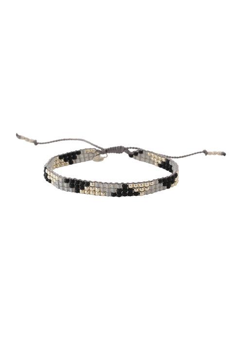 A Beautiful Story A Beautiful Story Sunlight Zilveren Armband - Zwarte Onyx