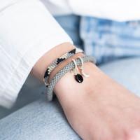A Beautiful Story Sunlight Zilveren Armband - Zwarte Onyx
