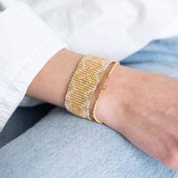 A Beautiful Story Sunset Gouden Armband - Citrien