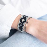 A Beautiful Story Sunset Silver Bracelet - Black Onyx