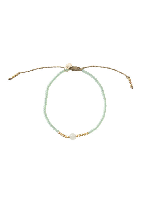 A Beautiful Story A Beautiful Story Twinkle Gold Bracelet - Aventurine