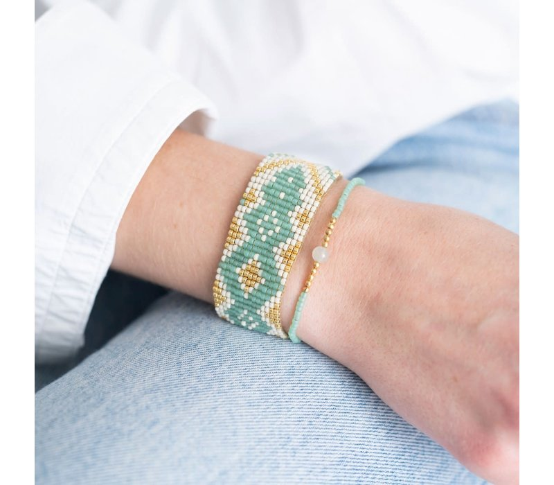 A Beautiful Story Twinkle Gouden Armband - Aventurijn