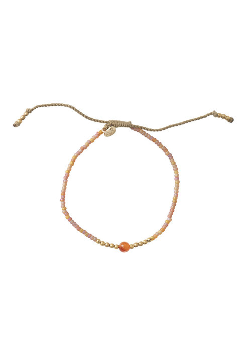 A Beautiful Story A Beautiful Story Twinkle Gold Bracelet - Carnelian