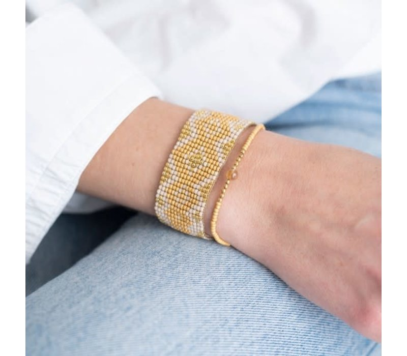A Beautiful Story Twinkle Gouden Armband - Citrien