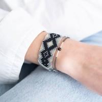 A Beautiful Story Twinkle Zilveren Armband - Zwarte Onyx