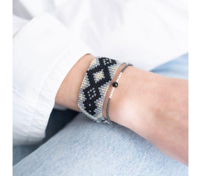 A Beautiful Story Twinkle Silver Bracelet - Black Onyx