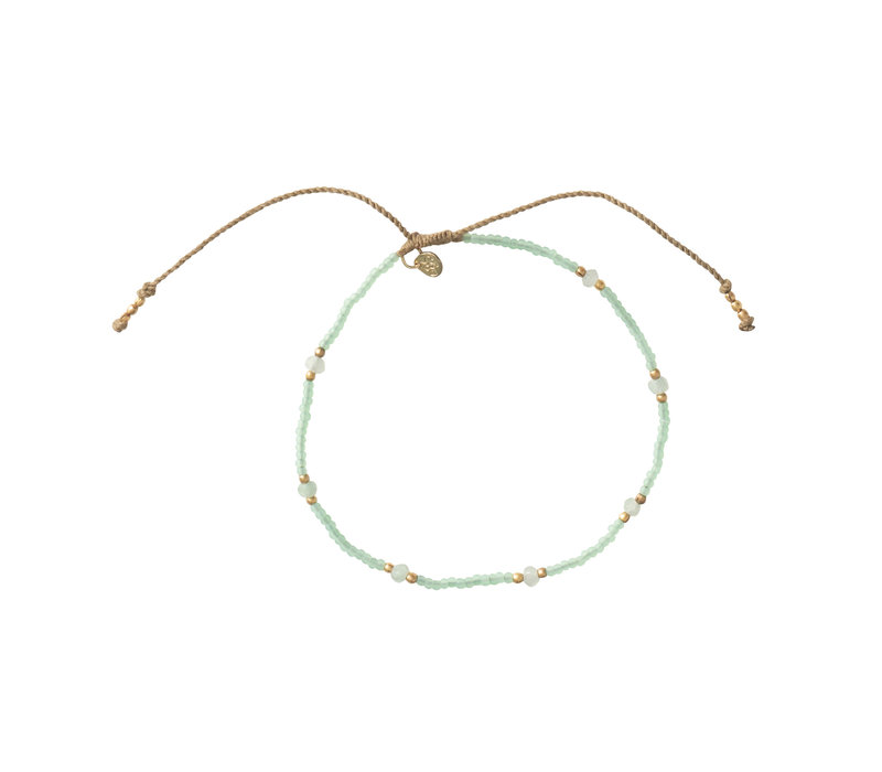 A Beautiful Story Rainbow Gold Anklet - Aventurine