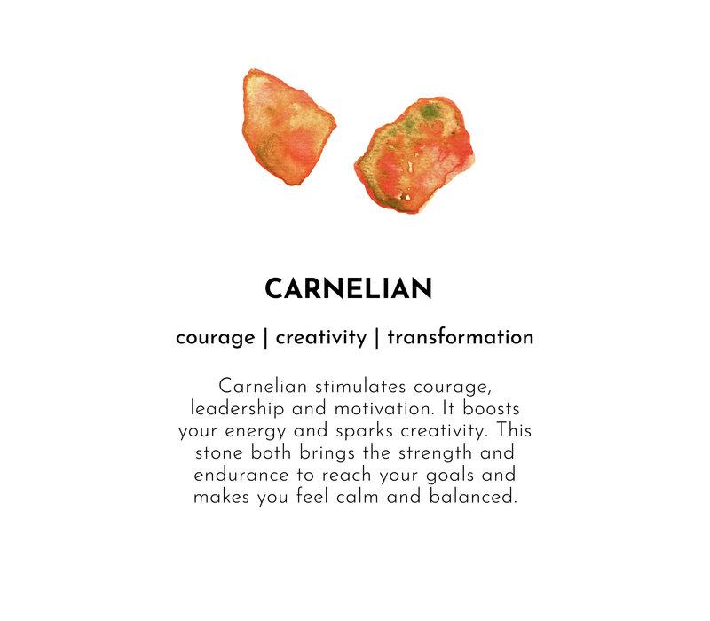 A Beautiful Story Rainbow Gouden Enkelbandje - Carneool