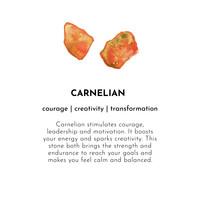 A Beautiful Story Sunlight Gouden Enkelbandje - Carneool
