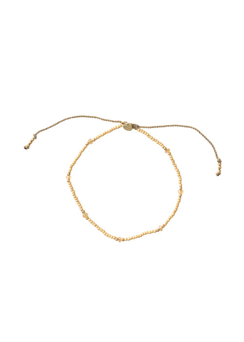 A Beautiful Story A Beautiful Story Rainbow Gold Anklet - Citrine