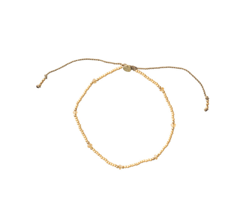 A Beautiful Story Rainbow Gold Anklet - Citrine