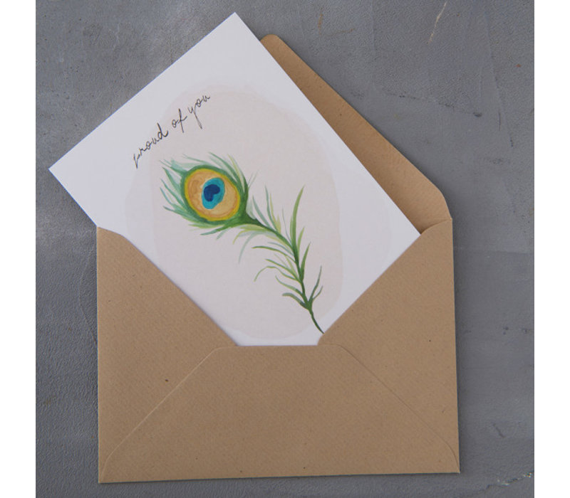 A Beautiful Story Greeting Card - Peacock