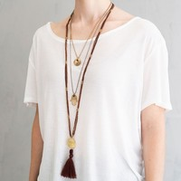 A Beautiful Story Melody Gold Necklace - Carnelian