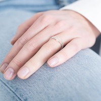 A Beautiful Story Beauty Silver Ring - Rose Quartz