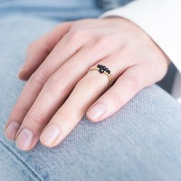 A Beautiful Story Beauty Gold Ring - Black Onyx