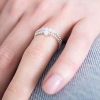 A Beautiful Story Beauty Zilveren Ring - Blauwe Agaat