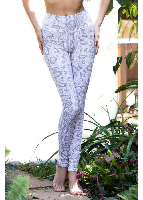 Funky Simplicity Funky Simplicity High Waist Legging - White Dragon