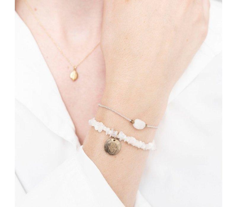 A Beautiful Story Edelsteen Kaart - Maansteen Gouden Armband