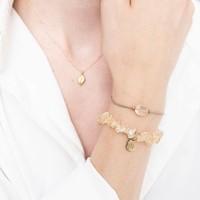 A Beautiful Story Edelstein Karte - Citrin Goldenes Armband