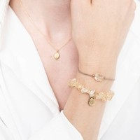 A Beautiful Story Gemstone Card - Citrine Gold Bracelet