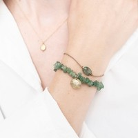 A Beautiful Story Edelsteen Kaart - Aventurijn Gouden Armband