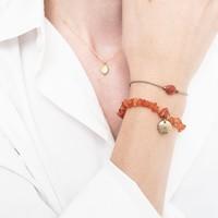 A Beautiful Story Edelsteen Kaart - Carneool Gouden Armband