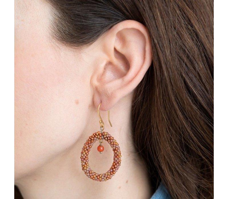 A Beautiful Story Faith Gold Earring - Carnelian