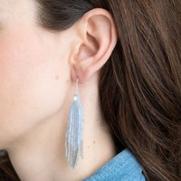 A Beautiful Story Favorite Silver Earring - Blue Lace Agate