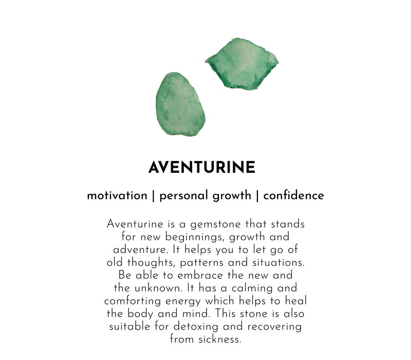 A Beautiful Story Favorite Gold Earring - Aventurine