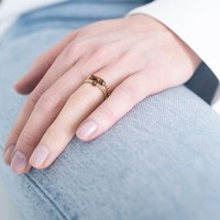 A Beautiful Story Beauty Goldener Ring - Tigerauge