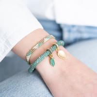 A Beautiful Story Sunlight Gouden Armband - Aventurijn