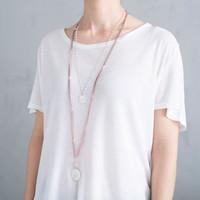 A Beautiful Story Blush Silver Necklace - Rose Quartz