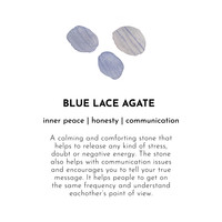 A Beautiful Story Twinkle Silver Bracelet - Blue Lace Agate
