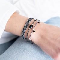 A Beautiful Story Summer Zilveren Armband - Zwarte Onyx