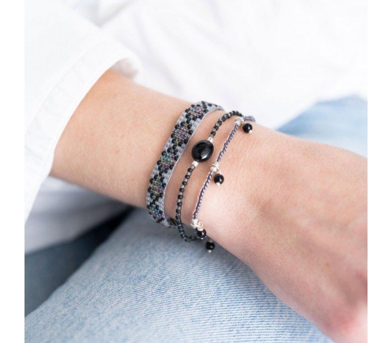 A Beautiful Story Summer Silver Bracelet - Black Onyx