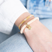 A Beautiful Story Sunlight Gouden Armband - Citrien