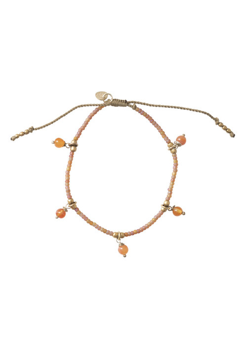 A Beautiful Story A Beautiful Story Dreamy Gold Bracelet - Carnelian