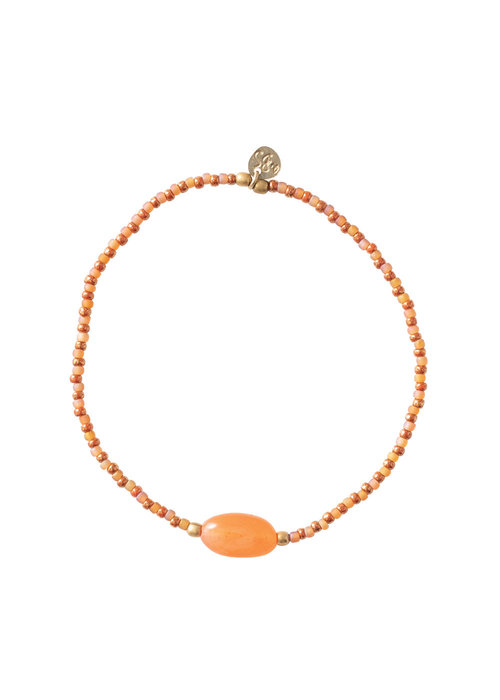 A Beautiful Story A Beautiful Story Summer Gold Bracelet - Carnelian