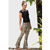 Funky Simplicity Funky Simplicity Flared Legging - Cream Brown Snake