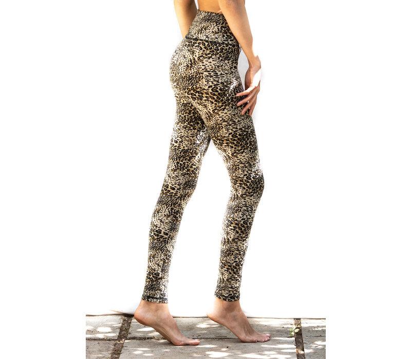 Funky Simplicity High Waist Legging - Cream Leopard
