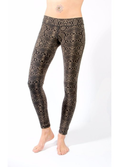 Funky Simplicity Funky Simplicity Legging - Snake Olive