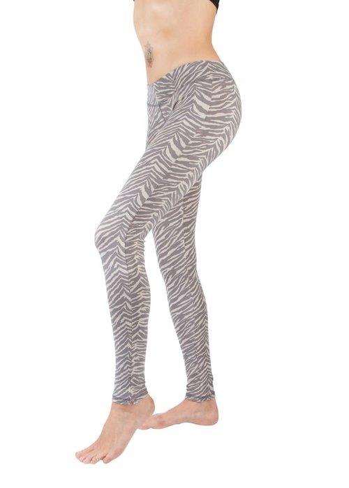 Funky Simplicity Funky Simplicity Legging - Zebra Grey