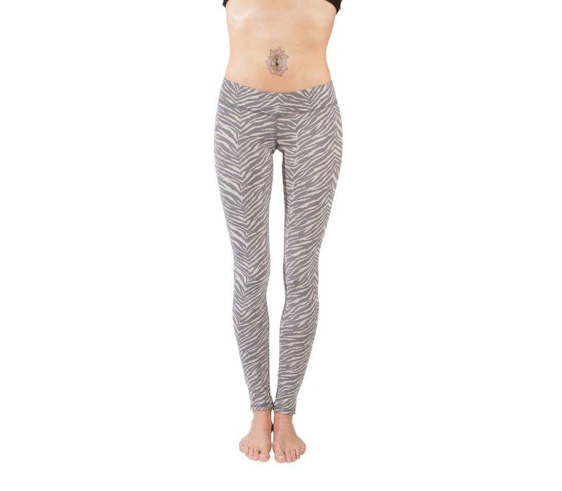 Funky Simplicity Legging - Zebra Grey