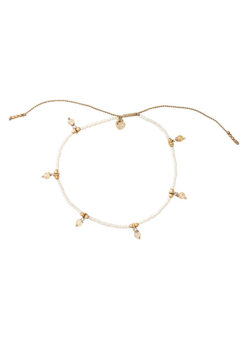 A Beautiful Story A Beautiful Story Dreamy Gold Anklet - Citrine