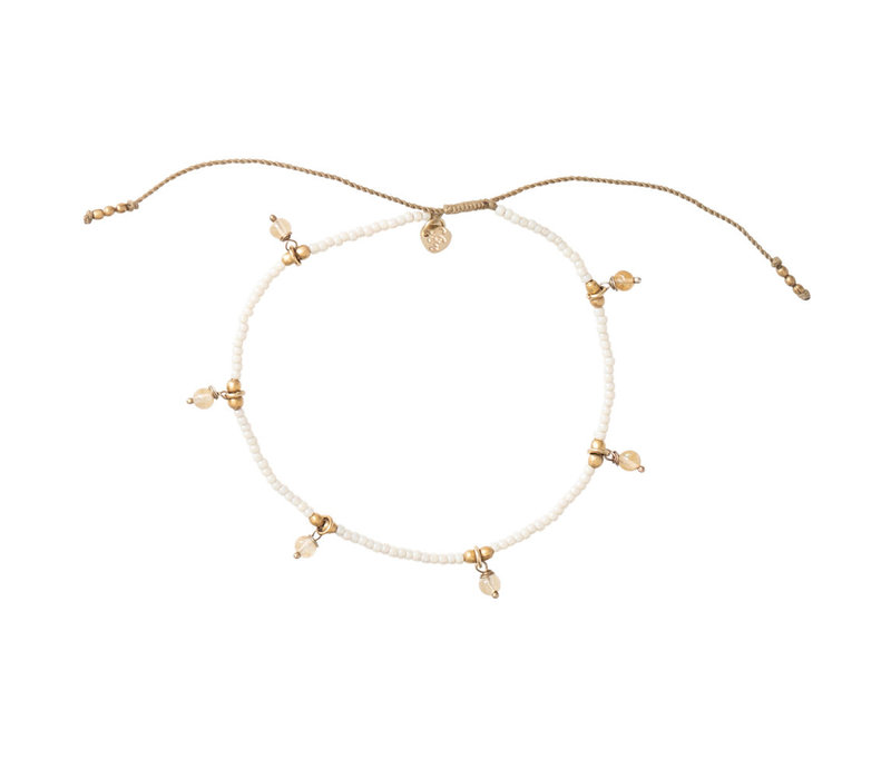 A Beautiful Story Dreamy Gold Anklet - Citrine