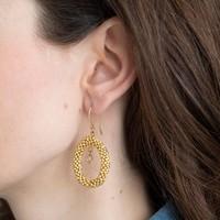 A Beautiful Story Faith Gold Earring - Citrine