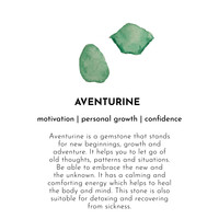 ABeautiful Story Faith Gold Earring - Aventurine