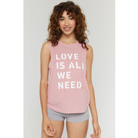 Spiritual Gangster Love Is Muscle Tank - Pink Sky