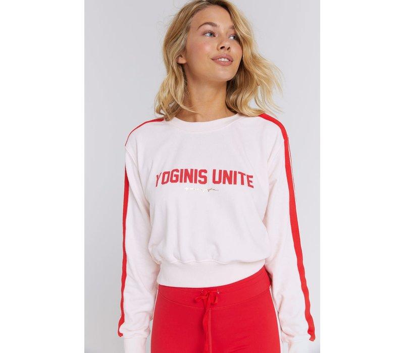 Spiritual Gangster Yoginis Unite Crew Sweatshirt - Warm Glow