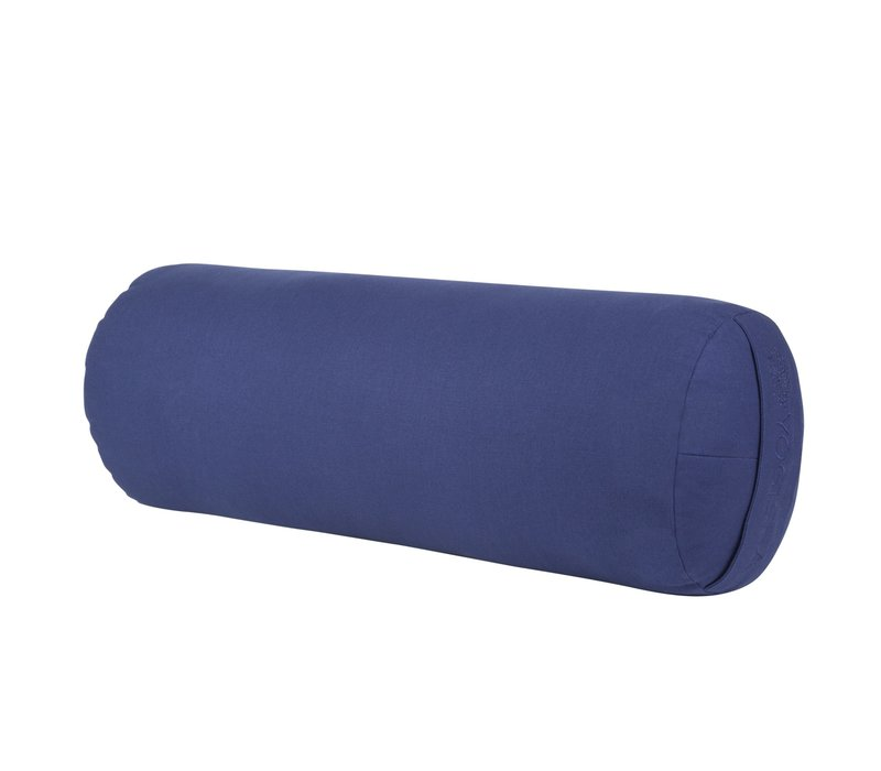 Yoga Bolster Rond Kapok - Donkerblauw